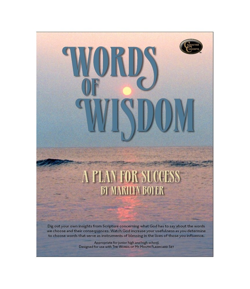 Level 7- Words of Wisdom Bible Study E-book - Character Concepts