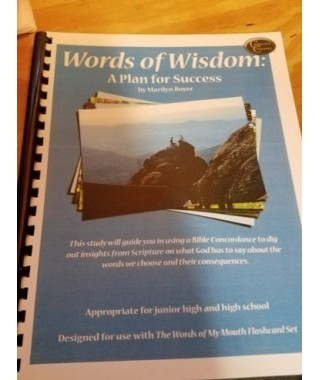 Words of Wisdom Bible Study spiral bound