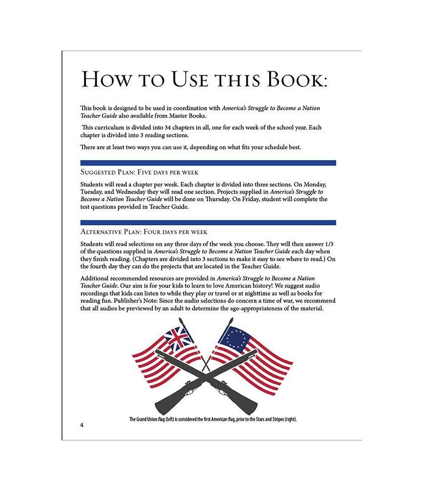 Americas struggle to become a nation student text and teachers americas struggle to become a nation student text and teachers guide fandeluxe Gallery