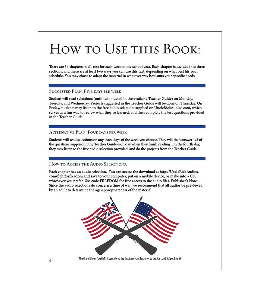 The Fight for Freedom Student Text and Teacher's Guide