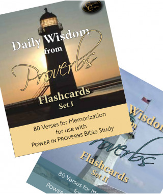 Daily Wisdom from Proverbs Set 1 and 2 Digital Flashcards
