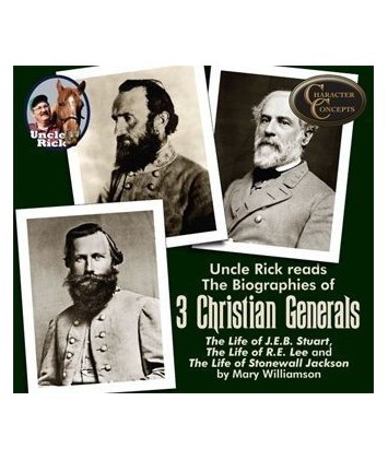 Uncle Rick Reads Three Christian Generals CD's